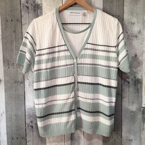 Alfred Dunner Double-Layered Cardigan